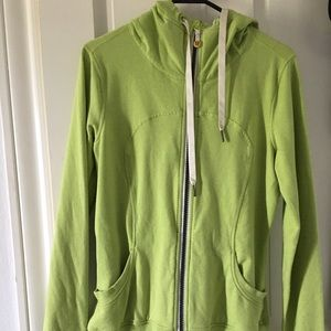 Lululemon jacket sz10 lime green